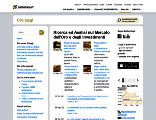 oro-oggi.bullionvault.it screenshot