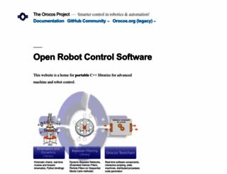 orocos.org screenshot