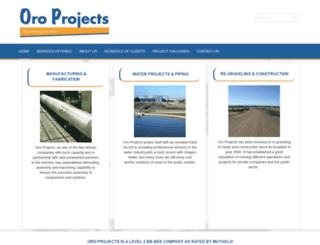 oroprojects.co.za screenshot