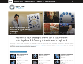 oroscopooggi.com screenshot
