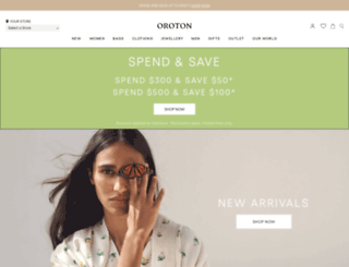 oroton.com.au screenshot