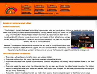 orphancarenepal.org screenshot