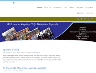 orphanhelpministriesug.org screenshot