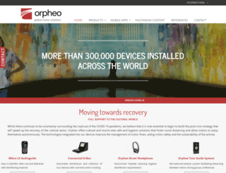 orpheo.org screenshot
