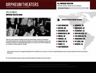 orpheum-theater.com screenshot