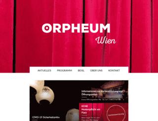 orpheum.at screenshot