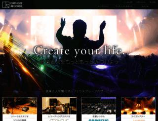 orpheusrecords.jp screenshot