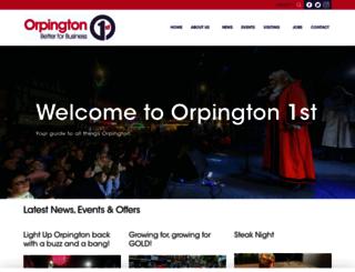 orpington1st.co.uk screenshot
