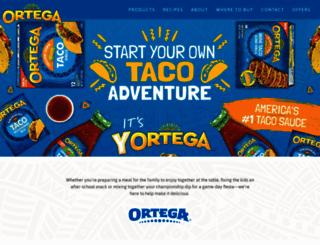 ortega.com screenshot