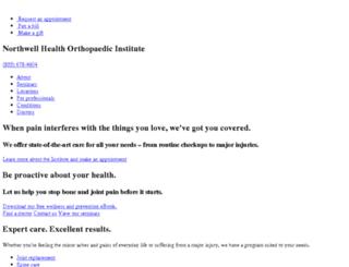 ortho.northshorelij.com screenshot
