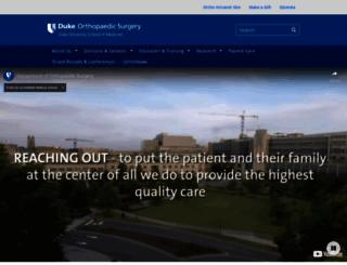 ortho.surgery.duke.edu screenshot