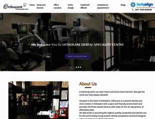 orthocare.net.in screenshot