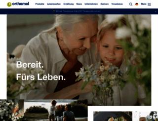 orthomol.com screenshot