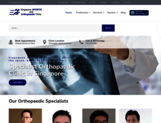 orthopaedics.com.sg screenshot