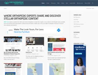 orthopaedicweblinks.com screenshot