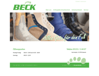 orthopaedie-beck.de screenshot