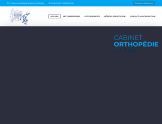 orthopedie-du-parc.fr screenshot