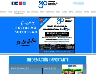 ortodoncia.org.ar screenshot