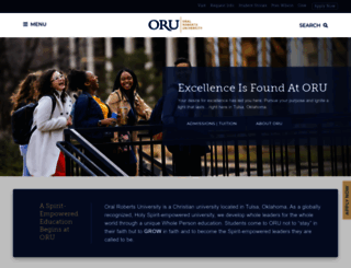 oru.edu screenshot