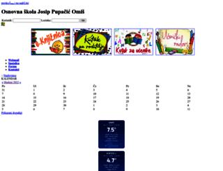 os-jpupacic-omis.skole.hr screenshot