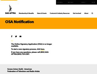 osa.sagaftra.org screenshot
