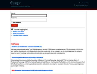 osc.trustrms.com screenshot