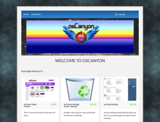 oscanyon.com screenshot