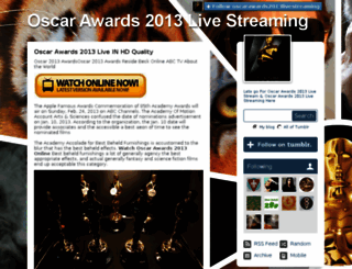 oscarawards2013livestreaming.tumblr.com screenshot