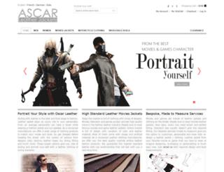 oscarleatherjackets.com screenshot