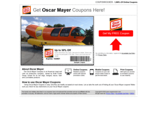 oscarmayer.couponrocker.com screenshot