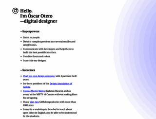 oscarotero.com screenshot