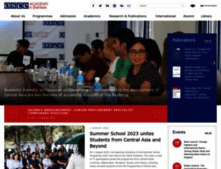 osce-academy.net screenshot
