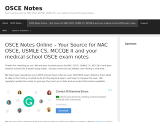oscenotes.com screenshot