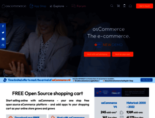 oscommerce.com screenshot