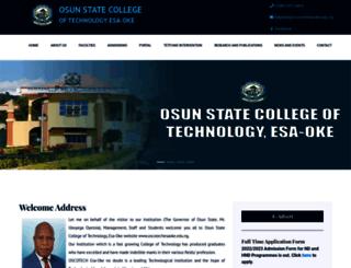 oscotechesaoke.edu.ng screenshot