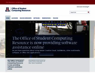 oscr.arizona.edu screenshot