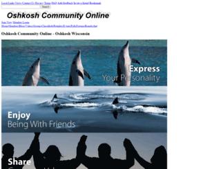 oshkoshcommunity.net screenshot