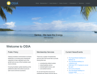 osia.net.au screenshot