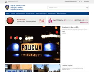 osjecko-baranjska.policija.hr screenshot