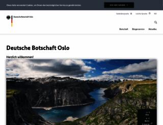 oslo.diplo.de screenshot