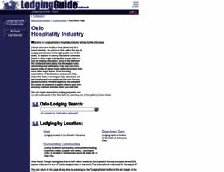 oslo.lodgingguide.com screenshot