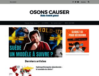 osonscauser.com screenshot