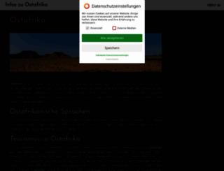 ostafrika.biz screenshot