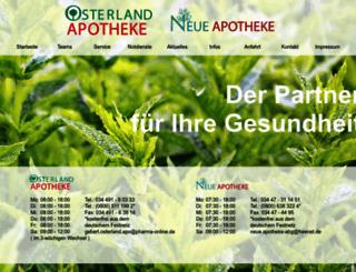osterland-apotheke.de screenshot
