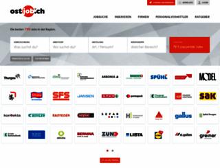 ostjobs.ch screenshot