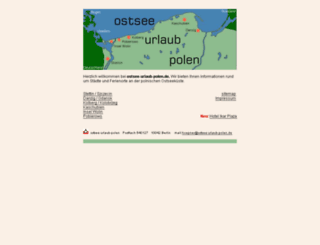 ostsee-urlaub-polen.de screenshot