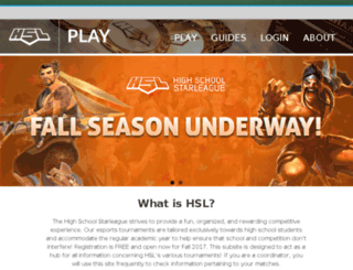 osu.hsstarleague.com screenshot