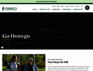 oswego.edu screenshot
