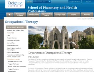ot.creighton.edu screenshot