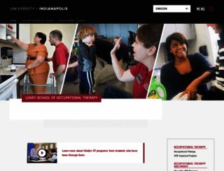 ot.uindy.edu screenshot